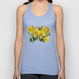 Watercolor Daffodils Unisex Tank Top