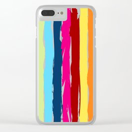 Multicolor stripes background Clear iPhone Case