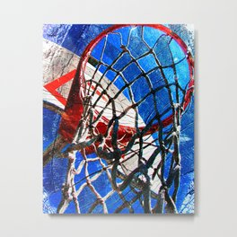 Modern basketball art 6 Metal Print
