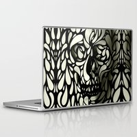 tumblr Laptop & iPad Skins featuring Skull by Ali GULEC
