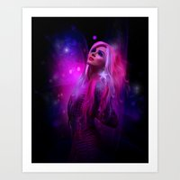 hologram Art Prints featuring Jem and the Hologram by Claudia Digital Graphics