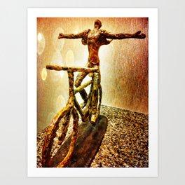 Ride Into The Light Art Print