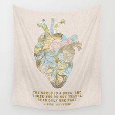 A Traveler's Heart + Quote Wall Tapestry