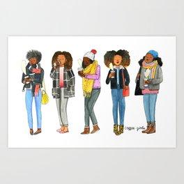 Coffee Girls Art Print