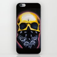 gangster iPhone & iPod Skins featuring Gangster Skull  by GIlbert G909