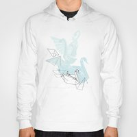 swan Hoodies featuring Swan by Lucy Selina Hall