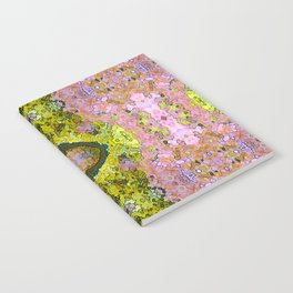 Eccentric purple and yellow pattern Notebook