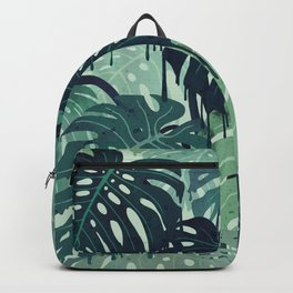 Monstera Melt (in Green) Backpack