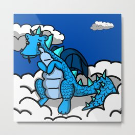 Blue Baby in the Sky | Veronica Nagorny  Metal Print