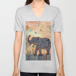 majestic series: elephant mirage Unisex V-Neck