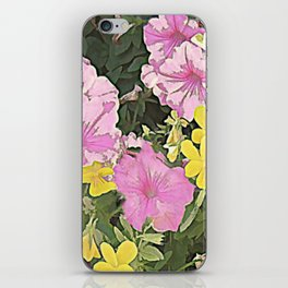 Petunias and Violas iPhone Skin