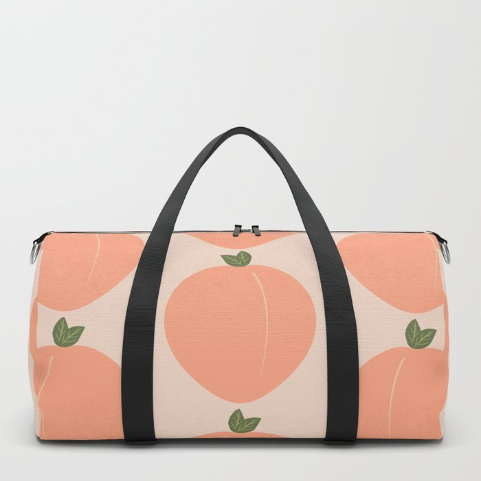 Minimal Fruit Pattern - Peaches Duffle Bag