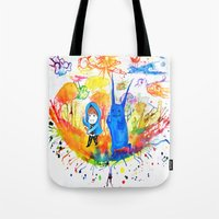donnie darko Tote Bags featuring Donnie Darko - Nice Day by Ayemaiden