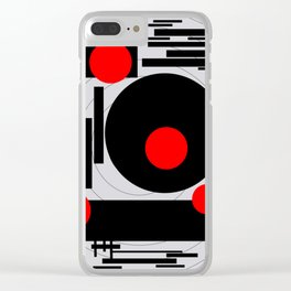 Optical Red Clear iPhone Case