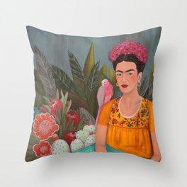 Frida a la casa azul Throw Pillow