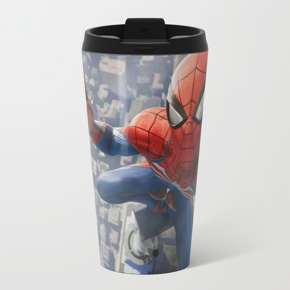 Spidey Spider-man Roof Selfie Ceramic Travel Mug TRM8974499