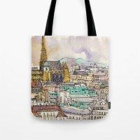 vienna Tote Bags featuring Vienna by Eurekawanders