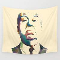 hitchcock Wall Tapestries featuring Hitchcock by totemxtotem
