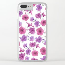 Petunias trailing Clear iPhone Case