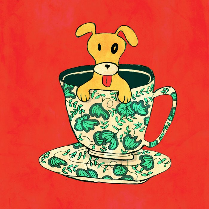 Dinnerware Sets - puppy in a teacup Comforters