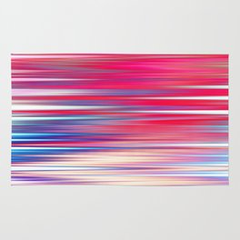 pink abstract with horizontal stripes Rug