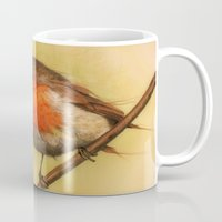 birdy Mugs featuring Birdy by ioanazdralea