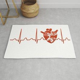 Biomedical Engineer Heartbeat Rug