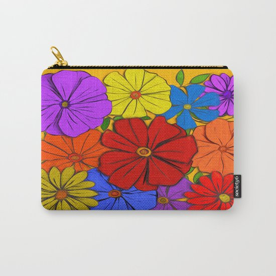 Abstract #346 Flower Power #3 Carry-All Pouch
