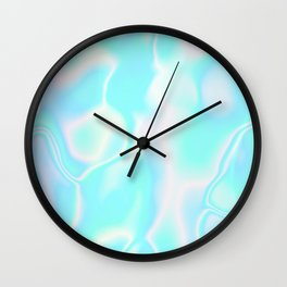 Pastel Hologram Wall Clock