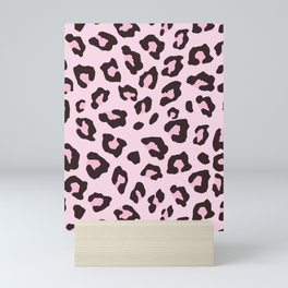 Leopard Print - Pink Chocolate Mini Art Print