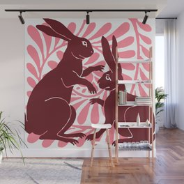 "William De Morgan ""Boxing Hares"" 1. Wall Mural"