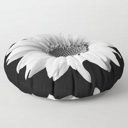 Sunflower In Black And White #decor #society6 #buyart Floor Pillow