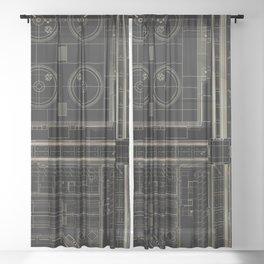 plan study #2 Sheer Curtain