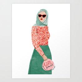 Iman Art Print