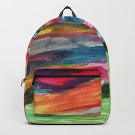Sunset in the prairies Backpack