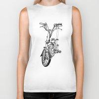 brompton Biker Tanks featuring Brompton by Swasky
