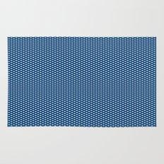 Navy Spotty Pattern Design Rug