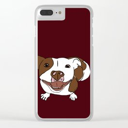 Celia Mae The Pit Bull Clear iPhone Case