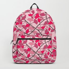 Ginkgo Leaves in Vibrant Hot Pink Tones Backpack