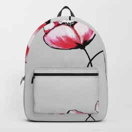 Beautiful Pink Watercolor Painted Flowers Backpack