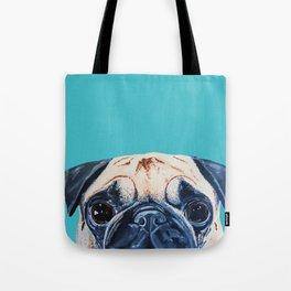 Wide Eyed Pug Tote Bag