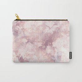 Elegant rose faux gold pink gray luxury marble pattern Carry-All Pouch