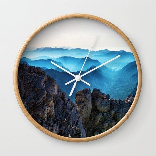 Mountains Breathe Too Wall Clock
