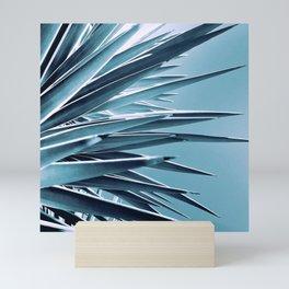 Palm Rays - Duotone Black and Teal Mini Art Print
