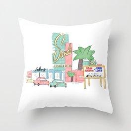 Las Vegas 1950 Throw Pillow