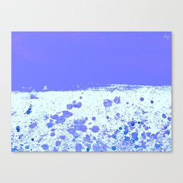 Ink Drop Blue Canvas Print
