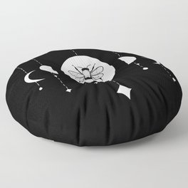 Bee & Moon Phases Floor Pillow