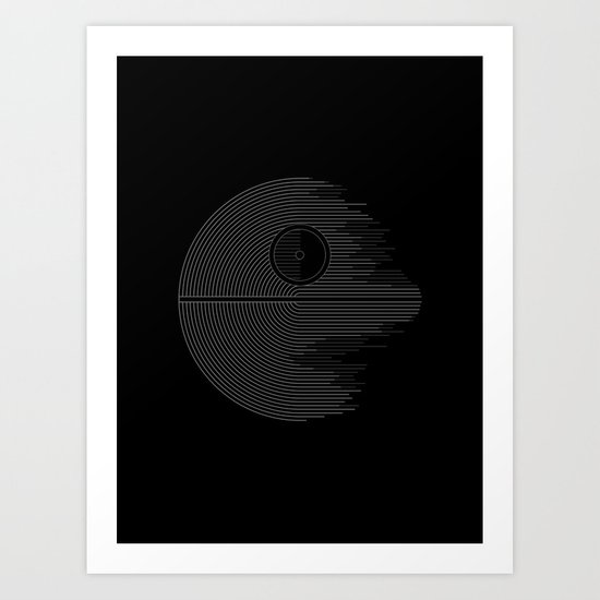 Minimalist Battlestation Art Print
