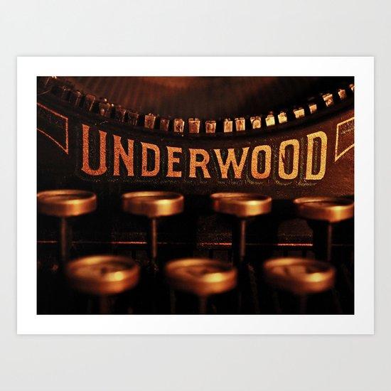 Underwood No. 5 Art Print