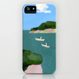Peaceful sea iPhone Case